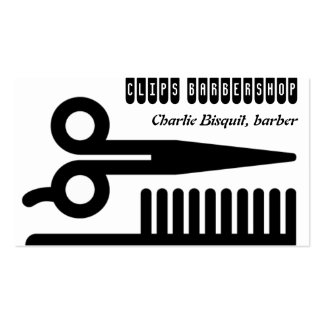 Scissors and Comb Hair Biz Pack Of Standard Business Cards