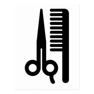 Scissors and Comb Postcard