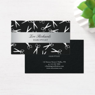 Scissors | Black & Silver | Hair Stylist Business Card