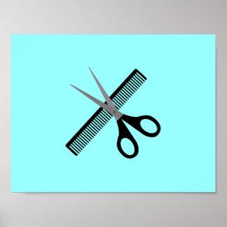 scissors & comb poster