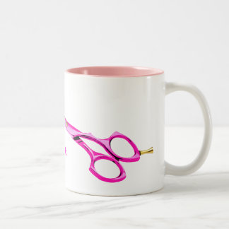 scissors, Curl up and Dye Hair Salon Two-Tone Coffee Mug