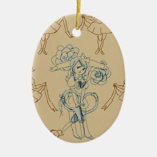 scissors ceramic oval decoration