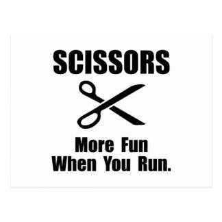 Scissors Fun Postcard