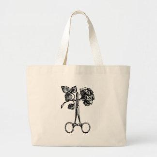 Scissors & Rose Large Tote Bag