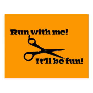 Scissors - Run With Me! It'll Be Fun! Postcards
