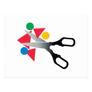 Scissors Scraps Postcard