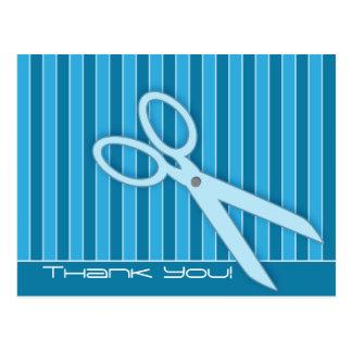 Scissors Thank You Postcard