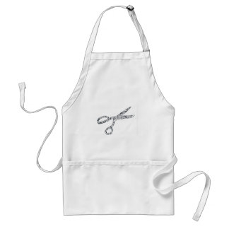 Scissors with Haircuts Standard Apron