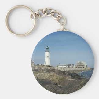 Scituate Lighthouse Key Ring