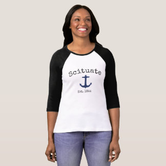 Scituate Massachusetts 3/4 Raglan shirt for women