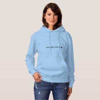 sciuridaedesign blue hooded sweatshirt
