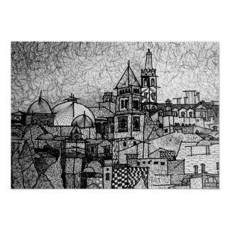 Scketch Jerusalem Print