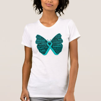 Scleroderma Awareness Butterfly Ribbon T Shirts