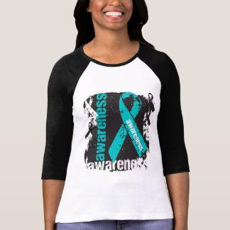 Scleroderma Awareness Grunge Ribbon T Shirt