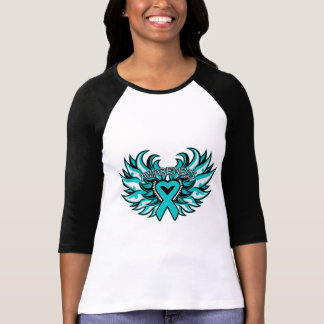 Scleroderma Awareness Heart Wings T-shirt