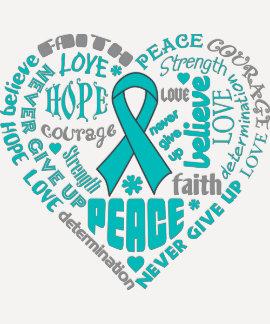 Scleroderma Awareness Heart Words Tshirts