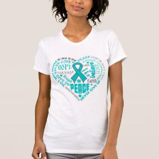 Scleroderma Awareness Heart Words T-shirts