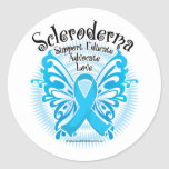 Scleroderma Butterfly Classic Round Sticker