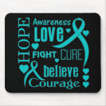 Scleroderma Hope Words Collage Mousepad