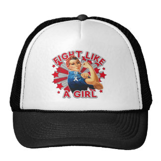 Scoliosis Vintage Rosie Fight Like A Girl Mesh Hat
