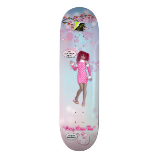 "Scolletta ""Cherry Blossom Time"" Deck 026 19.7 Cm Skateboard Deck"