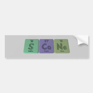 Scone-S-Co-Ne-Sulfur-Cobalt-Neon.png Bumper Stickers