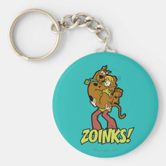 Scooby-Doo and Shaggy Zoinks! Basic Round Button Key Ring