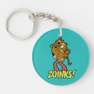 Scooby-Doo and Shaggy Zoinks! Double-Sided Round Acrylic Key Ring