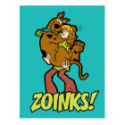 Scooby-Doo and Shaggy Zoinks! Postcard