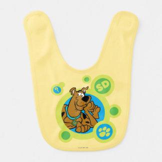 Scooby-Doo Circles SD Badge Baby Bib