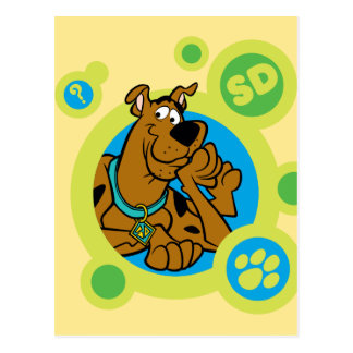 Scooby-Doo Circles SD Badge Postcard
