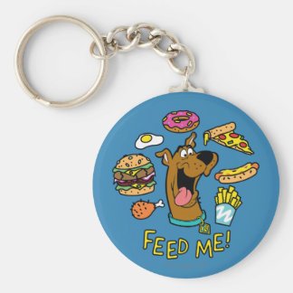 Scooby-Doo Feed Me! Basic Round Button Key Ring