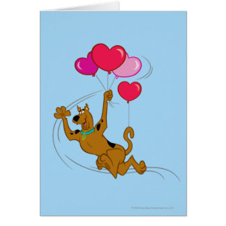 Scooby Doo - Heart Balloons Greeting Card