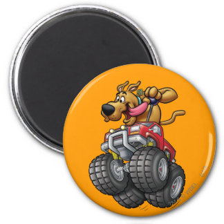 Scooby Doo Monster Truck1 6 Cm Round Magnet
