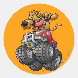Scooby Doo Monster Truck1 Round Sticker