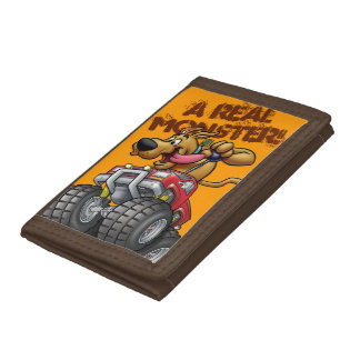 Scooby Doo Monster Truck1 Tri-fold Wallets