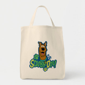 Scooby-Doo Paw Print Character Badge Grocery Tote Bag