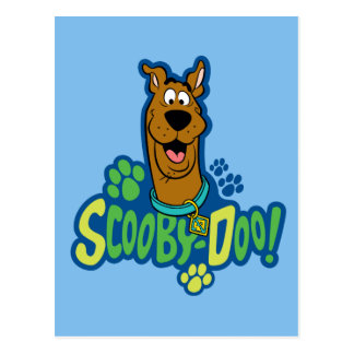 Scooby-Doo Paw Print Character Badge Postcard
