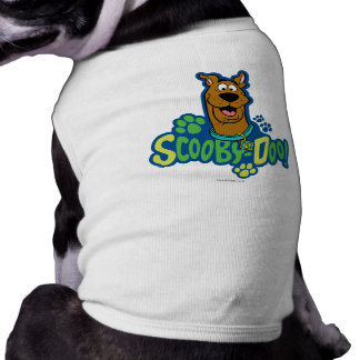 Scooby-Doo Paw Print Character Badge Sleeveless Dog Shirt