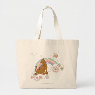 Scooby Doo Rainbow Butterfly2 Large Tote Bag