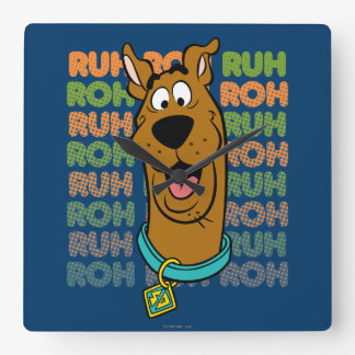 Scooby-Doo Ruh Roh Square Wall Clock