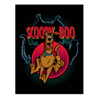 Scooby-Doo Running From Ghosts Graphic Postcard
