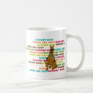 "Scooby-Doo Running ""Where Are You?"" Basic White Mug"