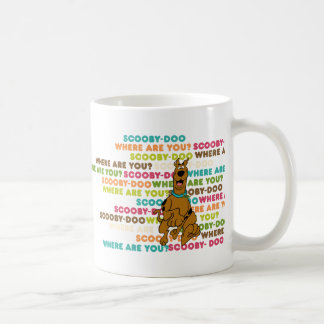 "Scooby-Doo Running ""Where Are You?"" Coffee Mug"