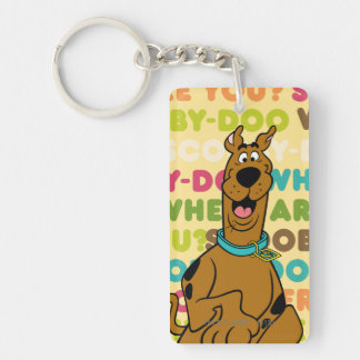"""Scooby-Doo Running """"Where Are You?"""" Double-Sided Rectangular Acrylic Key Ring"""