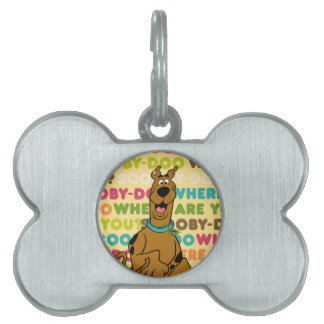 "Scooby-Doo Running ""Where Are You?"" Pet Name Tag"