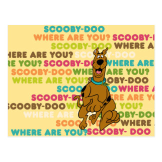 """Scooby-Doo Running """"Where Are You?"""" Postcard"""