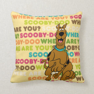 """Scooby-Doo Running """"Where Are You?"""" Throw Pillow"""