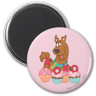 Scooby Doo - Scooby XOXO Cupcakes 6 Cm Round Magnet