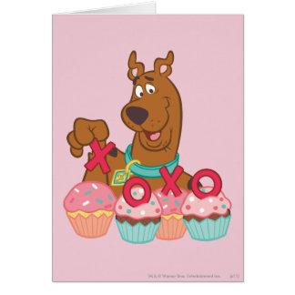 Scooby Doo - Scooby XOXO Cupcakes Card